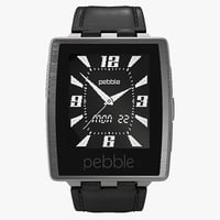 3d model pebble steel smartwatch