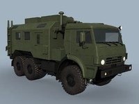 3d 3ds r-142nsa vehicle kamaz-43114