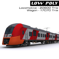 3d model electric train