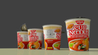 3d nissin cup noodle tom model