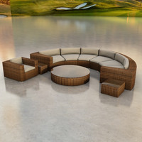 3d circular sofa model