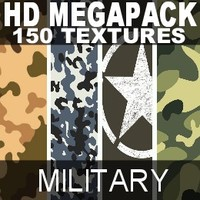 HD megapack 150 millitary texture maps