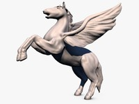 High Poly Pegasus Sculpture
