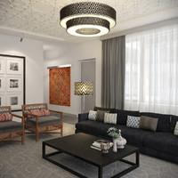 3dsmax scene modern oriental hotel