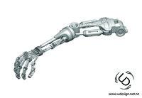 3d model terminator t-800 arm formats