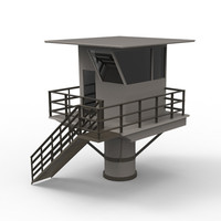 lifeguard station life 3d max