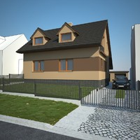family house exterior 3d max