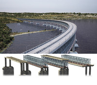 4 types bridge 3d model