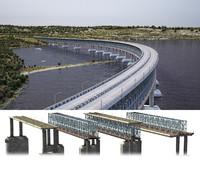 4 types bridge 3d model