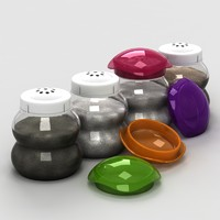 3d model of salt pepper sugar cellars