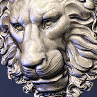 3d model lion head decoration