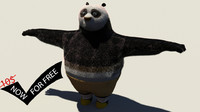 free obj model kung fu panda