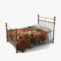 3d iron bed