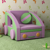 3d sofa nursery interior model