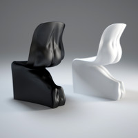 3d him-her-chair model