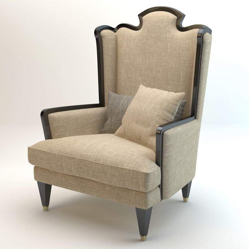 Bizzotto montmartre armchair 3d max for Ohrenbackensessel leder