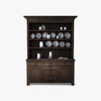 3d oak dresser