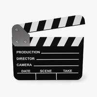 film clapperboard 3d model