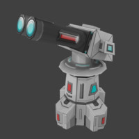 sci-fi turret 3d x