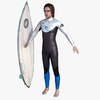 surfer man 3d max