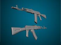 ak47 rifle 3d max