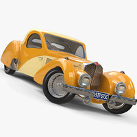 1937 bugatti type 3d model