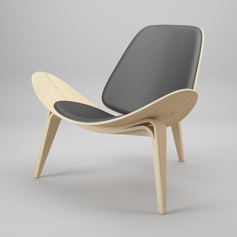 3ds Max Chair Hans J Wegner