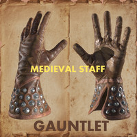 max leather medieval gauntlet