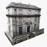 realistic european building 3d model