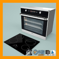 3d model oven hob installation