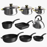 3d cookware cook ware