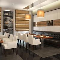 3dsmax scene hotel restaurant