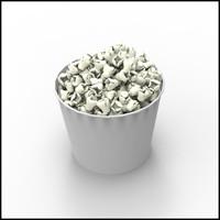 3d model popcorn corn