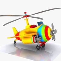 Cartoon Aircraft-Helicopter Hybrid