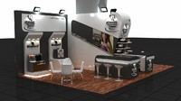 Coffee Company special stand design exhibit