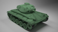 3d m24 chaffee model