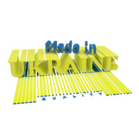 3d model text ukraine