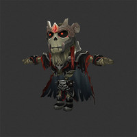 3d model rigged bone mage
