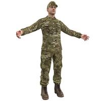 3d sergeant soldier