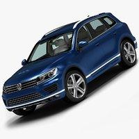 3d 2015 volkswagen touareg model