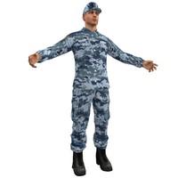 sergeant soldier 3d model