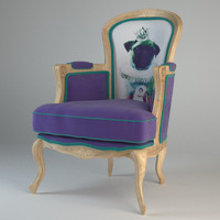 3d model villa arm chair grandfather