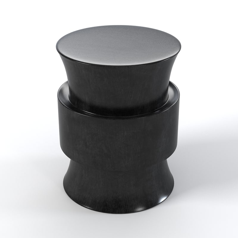Christian Liaigre Tabou Side table Modern Contemporary round hourglass0001.jpg