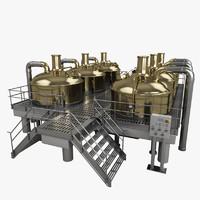 3d model brewery tank