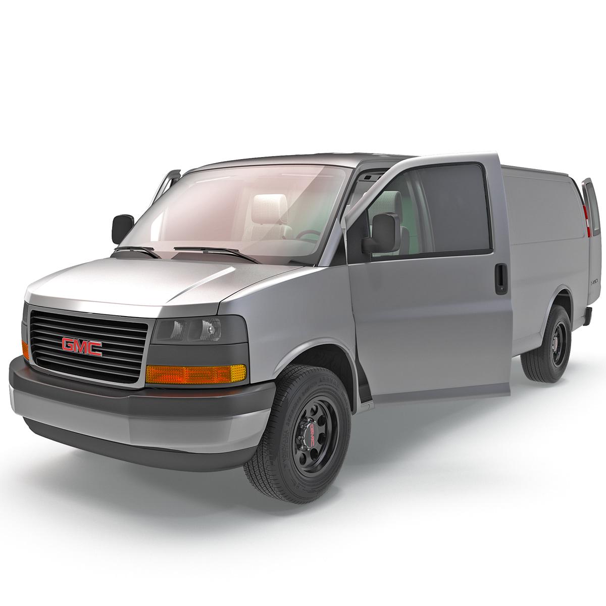 3d Model Of Gmc Savana Cargo Van