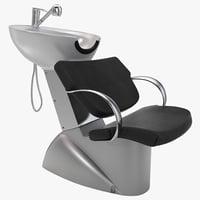 hair washing chair design 3d 3ds