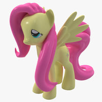 little pony fluttershy toy 3d c4d