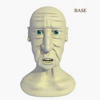 morphed head man cartoon 3d model