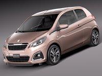 3d model 2015 peugeot 3-door