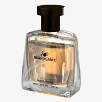 visualizing luxury perfume bottle obj